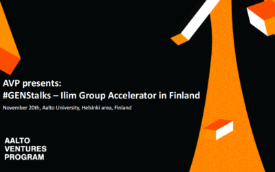 AVP presents: #GENStalks – Ilim Group Accelerator in Finland