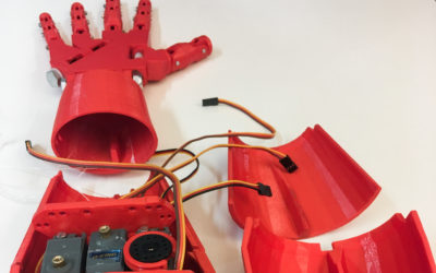 First-year students build a robot hand that moves like your own