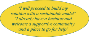 I will proceed to build my solution with a sustainable model. I already have a business and welcome a supportive community and a place to go for help.