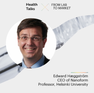 Picture of Dr. Edward Hæggström, CEO of Nanoform and Professor at Helsinki University